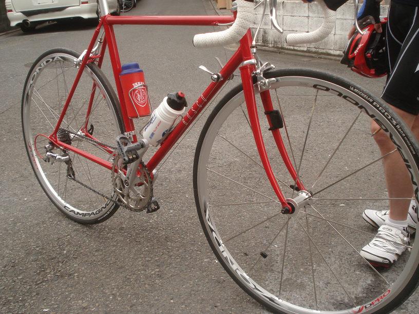 ... クロモリフレーム自転車塗装